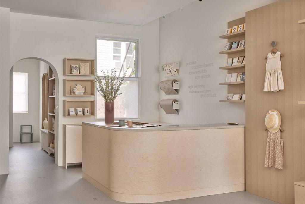 Main counter space of Toronto boutique retailer design by Ashley Botten